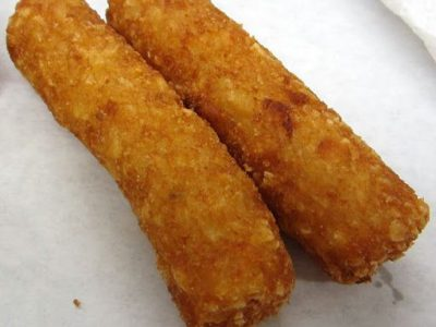 Hash Brown Sticks at B&B Grocery, Meat & Deli. Seasoned with a smidgen of onion powder. Skip the ketchup!